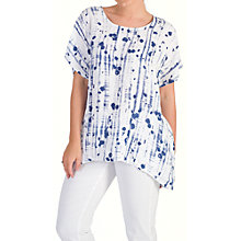 Buy Chesca Dotty Print Linen Tunic, White/Royal Blue Online at johnlewis.com