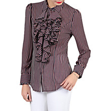 Buy Jolie Moi Striped Frilly Blouse, Royal Blue Online at johnlewis.com