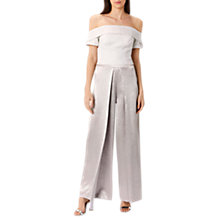 Buy Coast Helena Metallic Bardot Top, Silver Online at johnlewis.com