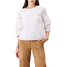 Buy Hobbs Alma Top, White Online at johnlewis.com