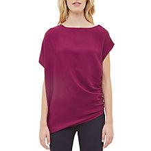 Buy Ted Baker Britla Draped Asymmetric Top, Purple Online at johnlewis.com