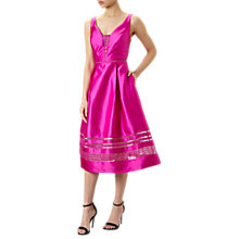 Buy Adrianna Papell Mikado Lace Cocktail Dress, Cool Magenta Online at johnlewis.com