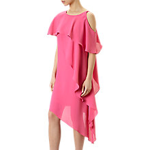 Buy Adrianna Papell Gauzy Crepe One Shoulder Shift Dress, Fiesta Pink Online at johnlewis.com