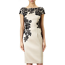 Buy Adrianna Papell Cap Sleeve Cocktail Dress, Champagne/Black Online at johnlewis.com