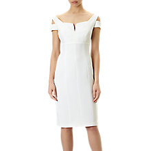 Buy Adrianna Papell Sleeveless Crepe Sheath Dress, Ivory Online at johnlewis.com