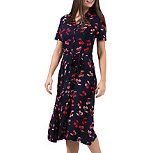 Buy Sugarhill Boutique Kendra Cherry Batik Print Shirt Dress, Navy/Red Online at johnlewis.com