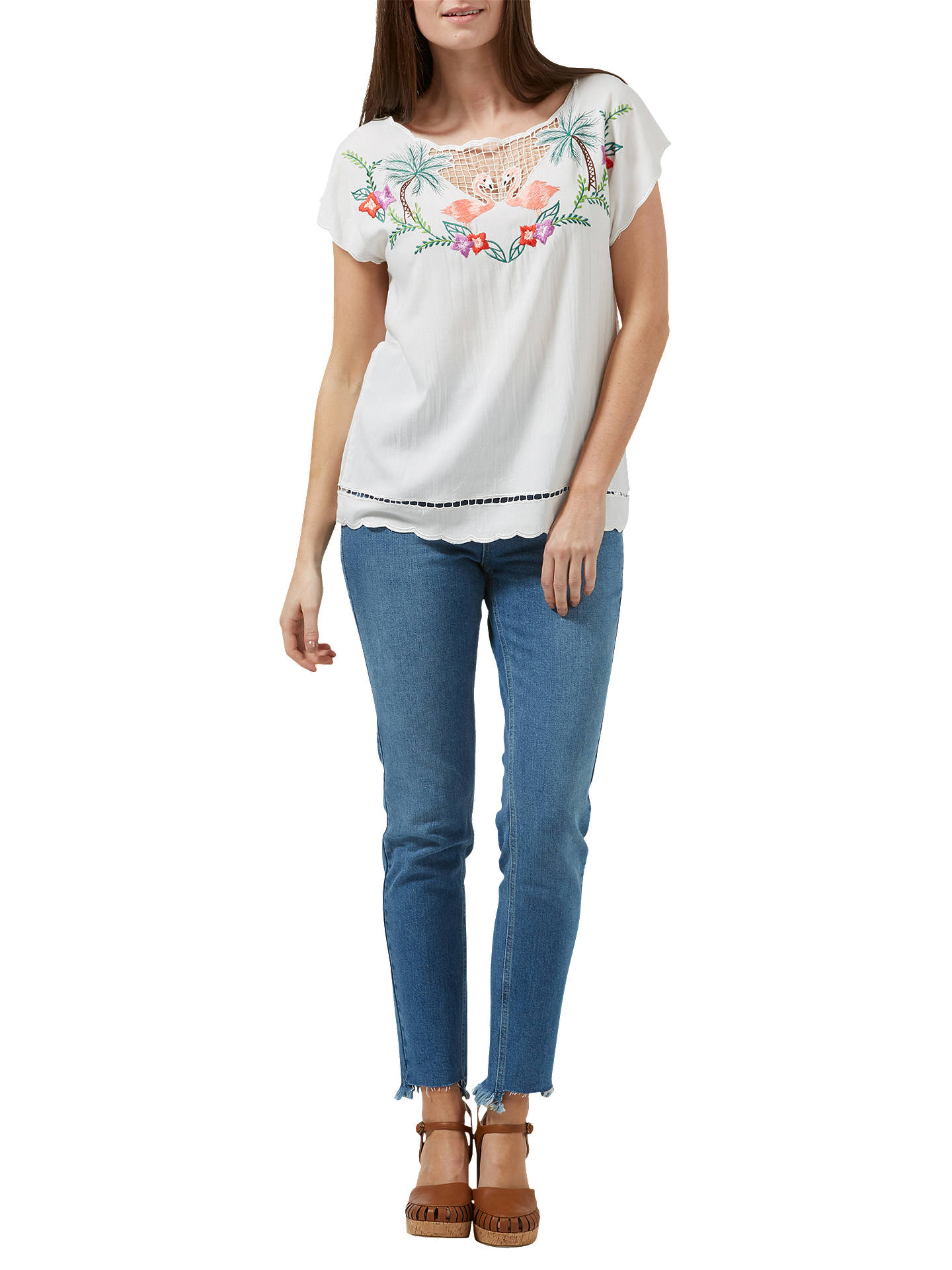 BuySugarhill Brighton Tropical Flamingo Top, Multi, 8 Online at johnlewis.com