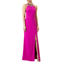 Buy Adrianna Papell Embellished Halter Neck Evening Dress Online at johnlewis.com