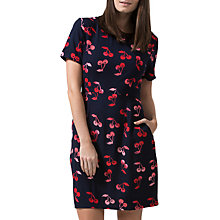 Buy Sugarhill Boutique Love Cherry Batik Print Shift Dress, Navy/Red Online at johnlewis.com