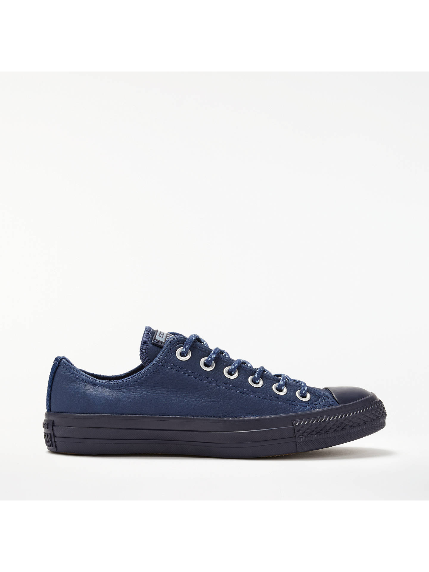 BuyConverse Chuck Taylor All Star Ox Leather Trainers, Navy Leather, 5 Online at johnlewis.com
