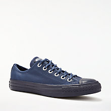 Buy Converse Chuck Taylor All Star Ox Leather Trainers, Navy Leather Online at johnlewis.com