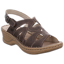 Buy Josef Seibel Catalonia 46 Slingback Sandals, Espresso Online at johnlewis.com
