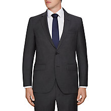 Buy Hackett London Wool Semi Plain Regular Fit Suit Jacket, Charcoal Online at johnlewis.com