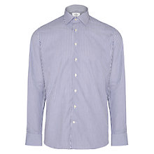 Buy Hackett London Bengal Stripe Tailored Fit Shirt, Navy/White Online at johnlewis.com