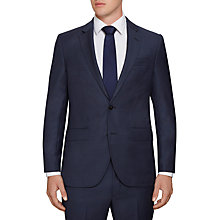 Buy Hackett London Birdseye Wool Regular Fit Suit Jacket, Indigo Online at johnlewis.com
