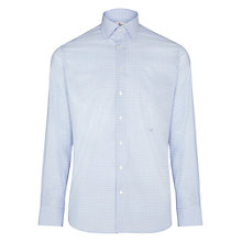 Buy Hackett London Gingham Tailored Fit Shirt, Blue/White Online at johnlewis.com