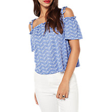 Buy Miss Selfridge Broderie Bardot Top Online at johnlewis.com