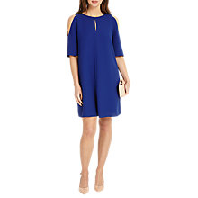 Buy Phase Eight Jilly Cold Shoulder Dress, Blue Online at johnlewis.com