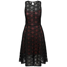 Buy Celuu Simone Lace Skater Dress, Black/Pink Online at johnlewis.com