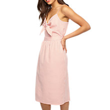Buy Miss Selfridge Stripe Knot Dress, Coral Online at johnlewis.com
