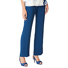 Buy Jacques Vert Straight Leg Crepe Trousers, Dark Blue Online at johnlewis.com