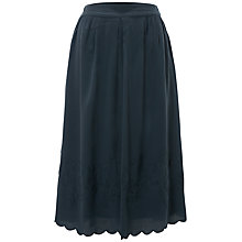 Buy White Stuff Lauren Embroidered Midi Skirt, Green Online at johnlewis.com