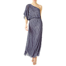 Buy Jacques Vert One Shoulder Maxi Dress, Light Grey Online at johnlewis.com
