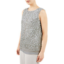 Buy Jacques Vert All Over Beaded Top, Mid Grey Online at johnlewis.com