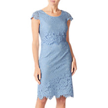 Buy Jacques Vert Layer Lace Dress, Pale Blue Online at johnlewis.com