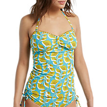Buy White Stuff Pacific Leaf Tankini Top, Lime/Turquoise Online at johnlewis.com