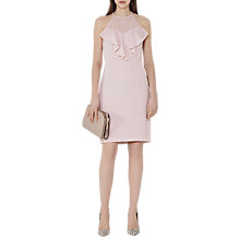 Buy Reiss River Ruffle Front Dress, Powder Pink Online at johnlewis.com