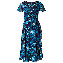 Buy Jacques Vert Printed Floral Soft Tie Dress, Multi/Navy Online at johnlewis.com
