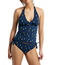 Buy White Stuff Seahorse Spot Tankini Top, Navy Online at johnlewis.com