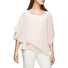 Buy Jacques Vert Chiffon Cape Top, Mid Neutral Online at johnlewis.com