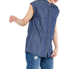 Buy Oasis Taylor Tencel Shirt, Denim Online at johnlewis.com