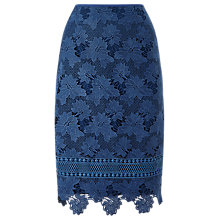 Buy Jacques Vert Lovely Lace Border Skirt, Dark Blue Online at johnlewis.com