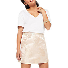 Buy Miss Selfridge Petite Jacquard Skirt, Gold Online at johnlewis.com