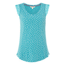 Buy White Stuff Lilly Lace Jersey Vest Top, Blue Online at johnlewis.com