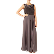 Buy Jacques Vert Sequin Georgette Maxi Dress, Mid Neutral Online at johnlewis.com