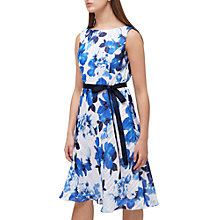 Buy Jacques Vert Petite Burnout Floral Dress, Blue/Multi Online at johnlewis.com