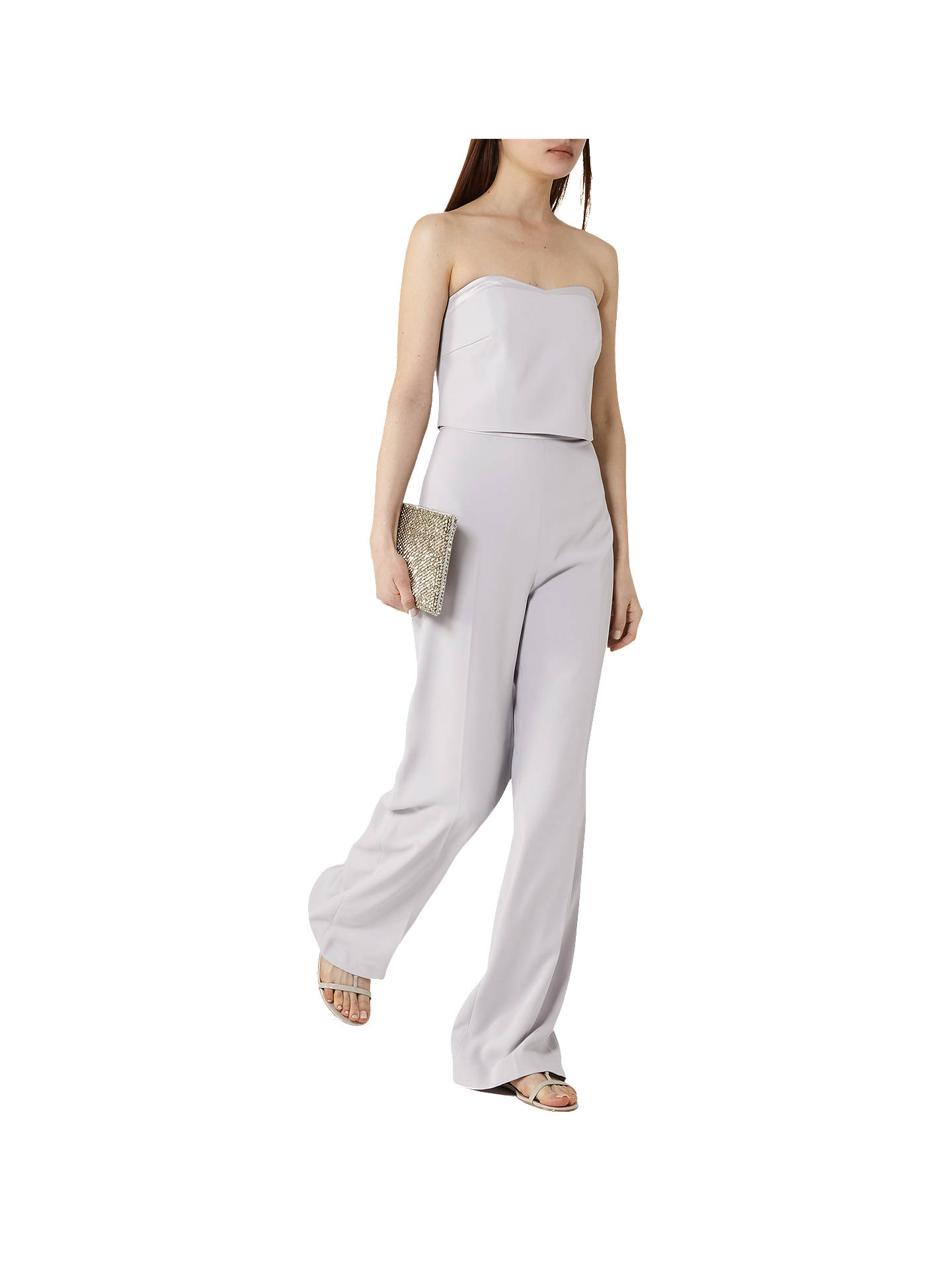 BuyReiss Shanta Jumpsuit, Pearl Blue, 6 Online at johnlewis.com