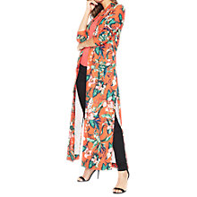Buy Miss Selfridge Premium Printed Maxi Kimono, Red/Multi Online at johnlewis.com