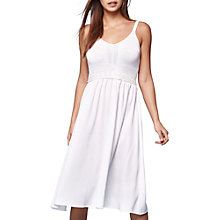 Buy Yumi Crochet Top Midi Dress, Ivory Online at johnlewis.com