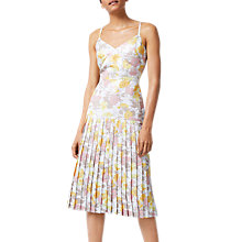 Buy Warehouse Floral Metallic Dress, Multi Online at johnlewis.com