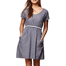 Buy Yumi Chambray Spot Dress, Dark Blue Online at johnlewis.com
