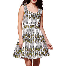 Buy Yumi Pineapple Stripe Print Dress, Ivory Online at johnlewis.com