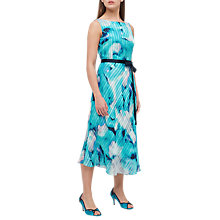 Buy Jacques Vert Printed Stripe Dress, Turquoise Online at johnlewis.com