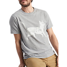 Buy Joules Graphic Fox Cotton T-Shirt, Grey Online at johnlewis.com