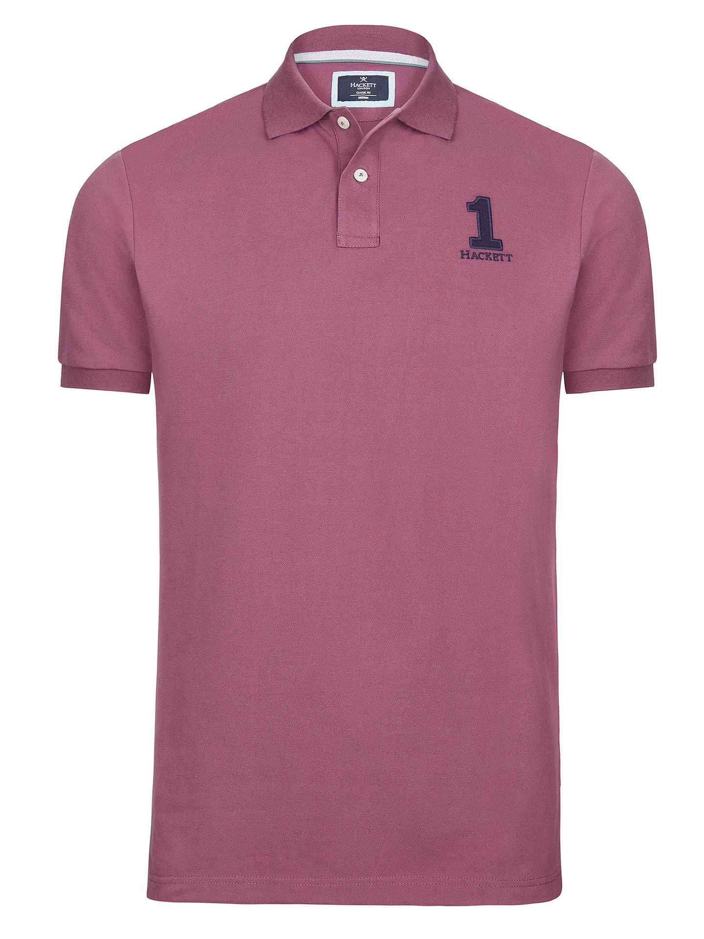 BuyHackett London New Classic Polo, Plum, S Online at johnlewis.com