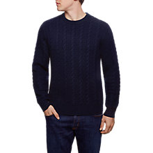 Buy Hackett London Cable Crew Neck Jumper Online at johnlewis.com